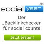 Socialyser.de – der Backlinkchecker für social signs