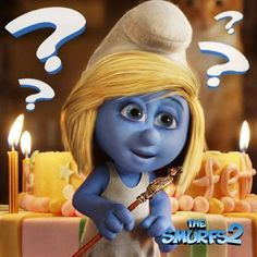 What is Smurfette thinking?    The Smurfs 2 - 2 August.