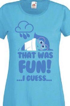 Sadness t shirt disney pixar inside out character