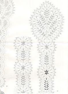 Bedfordshire lace patterns - isamamo - Picasa Albums Web (V) Crochet Stitches Chart, Bobbin Lacemaking, Bobbin Lace Patterns, Parchment Craft, True Art, Lace Making, Lace Design, Irish Crochet, Lace Knitting