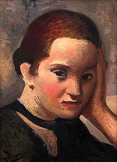André Derain ~ Etude, Portrait of a Woman, 1926