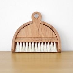 Iris Hantwerk employs visually impaired craftspeople to create beautiful handmade brushes. Each individual bundle of bristles are bound to hardwood handles just like they were made in the 19th century.