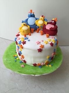 Great Twirlywoos cake, looks delicious! Twirlywoos Cake, No Bake Cake, 2nd Birthday, Birthday Parties, Birthday Cakes, Birthday Ideas, Baby Party, Childrens Party, Celebration Cakes