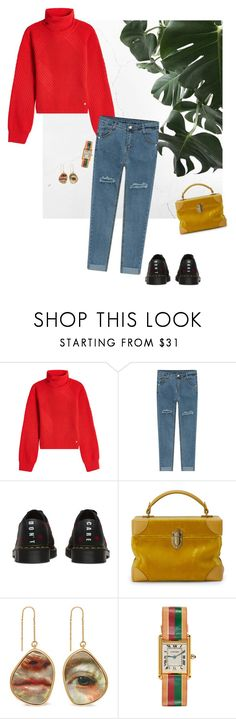 """See you next Tuesday"" by jckyleeah ❤ liked on Polyvore featuring Versace, Lazy Oaf, Bertoni, Mulberry, DrMartens, gucci, tuesday, chunkyknits and vetements"