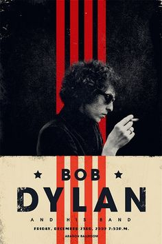 Gig poster for Bob Dylan show at the Aragon Ballroom, Adam, Boston, 2009.