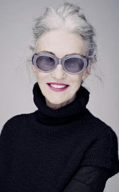Linda Rodin, the founder of the Rodin aromatherapy line. How to go grey gracefully article.