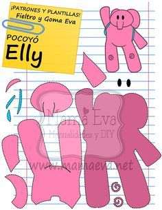 Plantillas personajes dibujos animados actuales 2nd Birthday Party Themes, Birthday Decorations, Cake Pocoyo, Felt Crafts, Diy And Crafts, Quiet Book Templates, Happy Party, Ideas Para Fiestas, Felt Patterns