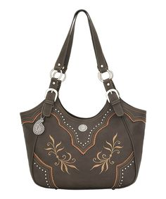 Take a look at this Bandana by American West Chocolate Scalloped Trim Tote on zulily today!