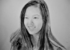 Acoustic Drawings The Shinji Ogata Gallery: Portrait of a 13 Year-Old Girl
