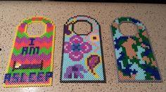 Door hangers perler beads by madelinekinne04