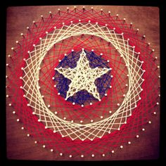 Captain America String Art