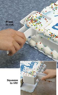 Slice, Squeeze and Serve Cake Cutter!