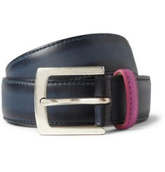 Paul Smith Shoes & Accessories Burnished-Leather Belt   MR PORTER
