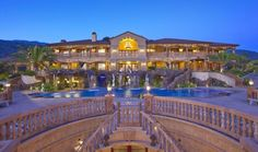 This 30,000 square foot mega mansion is located in Bradbury, CA!