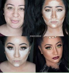 Flawless makeup before and after