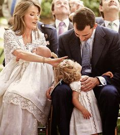 Crown Princess Letizia and Crown Prince Felice with Infanta Leonor and Infanta Sofia