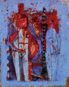 Rufino Tamayo - Dos figuras en azul