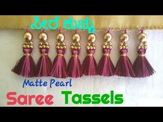 Saree Tassels Designs, Saree Kuchu Designs, Wedding Saree Blouse Designs, Blouse Designs Silk, Saree Blouse Patterns, Kurta Designs Women, Saree Wedding, Mehndi Designs, Beadwork Designs