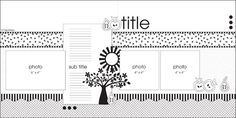 September 2012 PageMaps scrapbook page layout sketch