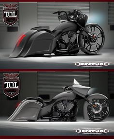 """Turn your Victory Cross Country into a Beast of a Bagger at """"Top Of The Line Designs"""",  Las Vegas, Nevada, United States,  http://toldesigns.com/,  Email: info@toldesigns.com,  Sean Belitsos (Owner) Tel: 480-845-8200,  Matt Marakis (Owner) Tel: 801-641-2627."""