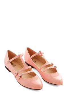 Gleam Girl Flat. You beam with every step you take in the glossy finish of these blush-pink flats from Dolce by Mojo Moxy. #pink #modcloth