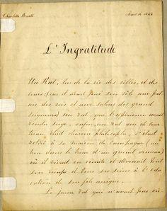 Lettre de Charlotte Brontë Bruxelles
