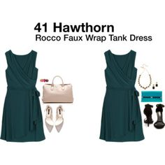 Rocco Faux Wrap Tank Dress: cute and looks perfect for summer, but not sure that I like this color