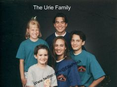 the Urie family. Brendon's the littlest one.