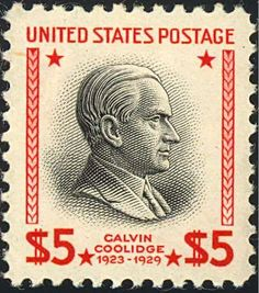 SC 834 1938 Presidential Series 5 00 Calvin Coolidge Mint Never Hinged Old Stamps, Rare Stamps, Vintage Stamps, Calvin Coolidge, Postage Stamp Design, Going Postal, American History, American Presidents, Black Presidents