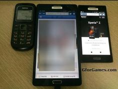 Now a new Samsung GALAXY Note 3 photo has been leaked, here you can see the Samsung GALAXY Note 3 compared with two other models