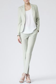 Speaking of colors, mint is most definitely on our spring-dressing wish list. And, so is this perfectly tailored suit. Reiss Raffa Textured Tailored Jacket, 425.00, available at Reiss; Reiss Lille Textured Tailored Trousers, 230.00, available at Reiss.