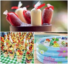 pool party comidas - Just Pin Barbie Birthday Party, Picnic Birthday, Birthday Party For Teens, Hawaiian Luau Party, Tropical Party, Summer Pool Party, Spring Party, Pool Party Decorations, Party Entertainment