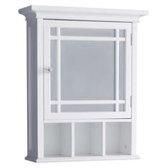 Neal Medicine Cabinet - perfect to have toilet paper out on shelves, mirror to do makeup, and storage behind it