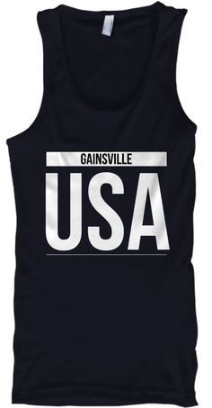 Gainesville Usa Navy Tank Top Front