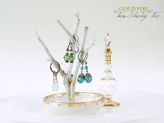homework: creative inspiration for home and life: ACCESSORIES: Gold Foil Twig Jewelry Tree