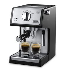 DeLonghi Stainless Steel Pump Espresso Machine, Black