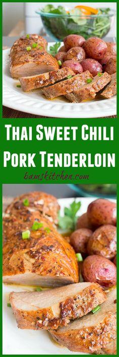 Thai Sweet Chili Pork Tenderloin / (GLUTEN-FREE and DIABETIC FRIENDLY ...