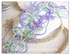 original Gaëlle 'Tat-too' design bracelet. Hand tatted, choose or ask your colour in my Etsy shop