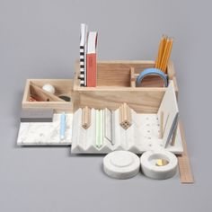 I desperately want one of these desk organiser by product designer and illustratorLesha Galkinfrom St-Petersburg, Russia. He describes it as a 'Shkatulka' which is Russian for casket.