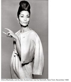Richard Avedon, China Machado, suit by Ben Zuckerman, NY, November 1958