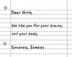 Maybe I need to marry a zombie!! ;)