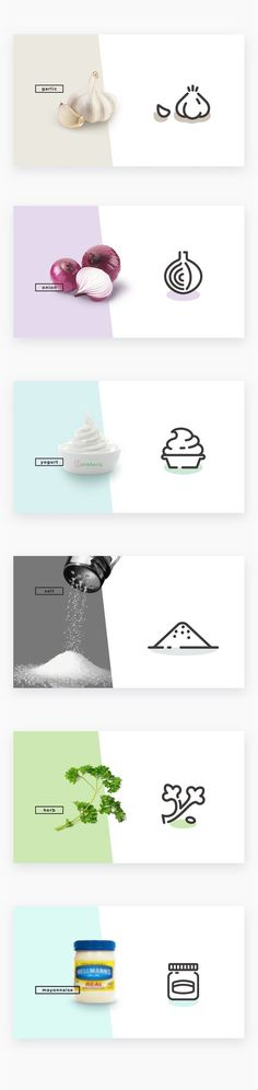 Food icon deisgn - abstracting shapes from natural ingredients...