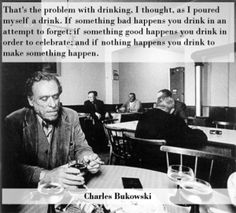 Charles Bukowski on the problem with drinking.