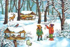 Szkolne Koło Ligi Ochrony Przyrody - Pomagamy zwierzętom zimą Christmas Colors, Christmas Art, Billy Jacobs Prints, Winter Activities, Cardmaking, Art For Kids, Preschool, Clip Art, Cartoon