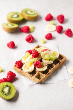Simple vegan waffles - 4-ingredient vegan gluten-free waffles! They're so delicious, healthy and easy to make. Hope you try this recipe! Feel free to add your favorite toppings.