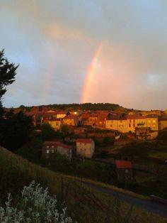 Un bel arc en ciel sur Chilhac...! ! !
