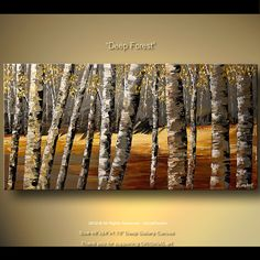 Landscape Painting - Deep Forest #