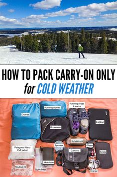 Packing carry-on only is possible in cold weather! This post contains packing light tips for cold weather travel and our packing list for Finland.