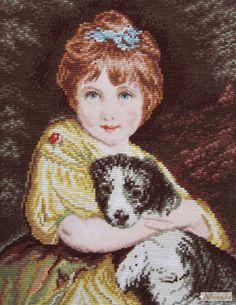 Gallery.ru / Сhild with Dog, № 3587 - Wiehler, Сhild with Dog - Nbusinka