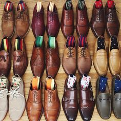 """We're definitely a bit envious of @taft_'s shoe collection. Which one is your favorite? #shoeaddict"""
